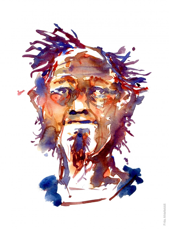 Watercolor of man