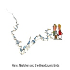 Drawing of a fairy tale Hans und Gretchen