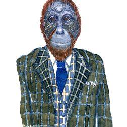 Orangutan in suit