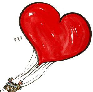 Love ballon illustration
