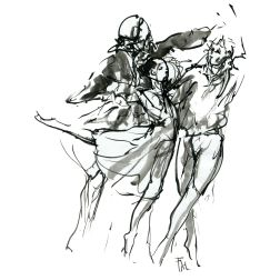 022-ink-sketch-two-men-woman-close-dancing-ballet-by-frits-ahlefeldt-hat-square