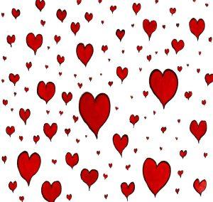 Heart group illustration