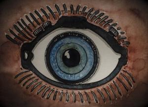 Drawing of an artificial eye