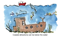 color-illustration-diving-place-making-old-ship-dive-attraction-drawing-and-text-by-frits-ahlefeldt