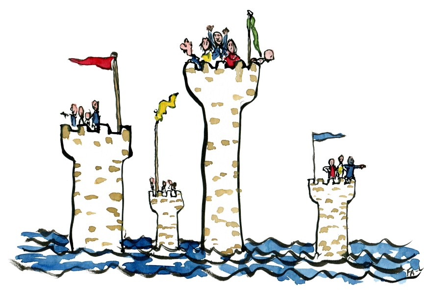 Castles far out at sea