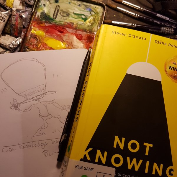 """photo of the book """"not knowing"""""""