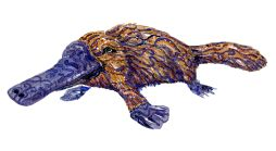 Platypus tribal watercolor by Frits Ahlefeldt