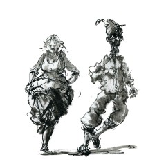 017-ink-sketch-people-strange-couple-dancing-by-frits-ahlefeldt-hat-square-fss1