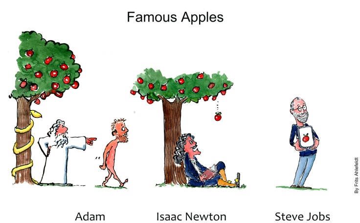 Apples through history, Adam, Newton and Steve Jobs