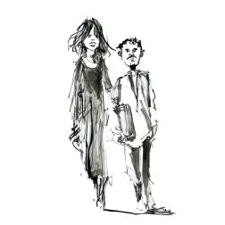020-ink-sketch-tall-woman-little-man-walking-by-frits-ahlefeldt-fss1-hat-square