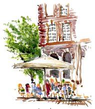 Fast watercolor sketch Copenhagen, Denmark