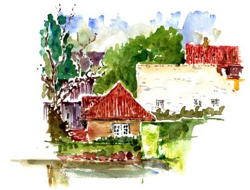 Little house next to the Rosenborg Castle, central Copenhagen