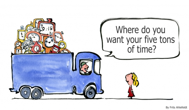 Drawing of a truckload of time