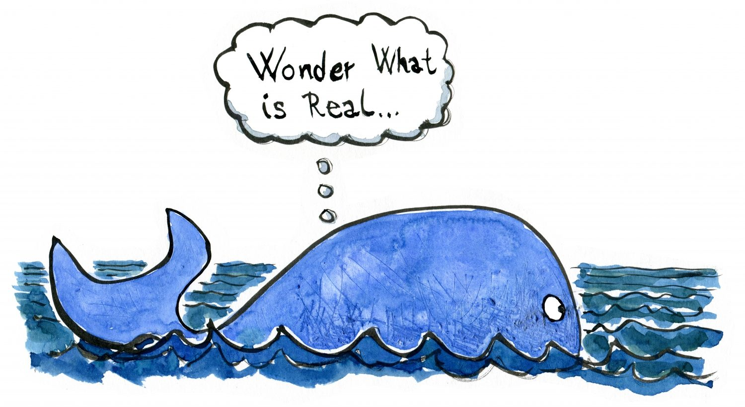 Drawing of Jonas thinking inside the whale