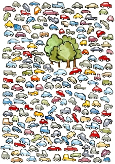 cars-3trees