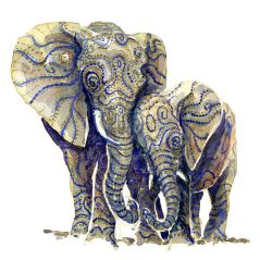 watercolor-elephant-two-standing-together-friendship-family-mother-artwork-by-frits-ahlefeldt