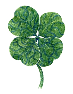 Four leaf clover watercolor