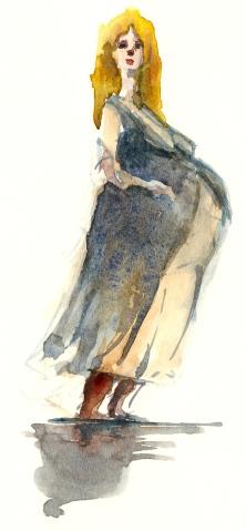 Watercolor of people