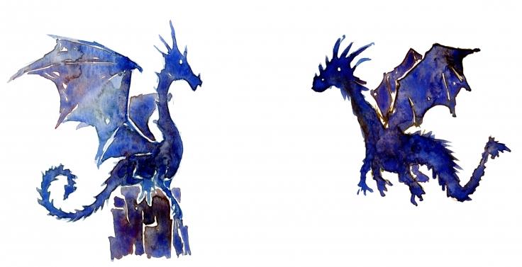 Watercolor of Dragon