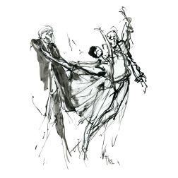 021-ink-sketch-three-people-dancing-ballet-by-frits-ahlefeldt-hat-square