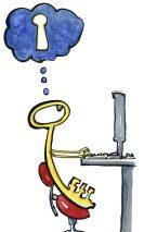 Key thinking about a keyhole