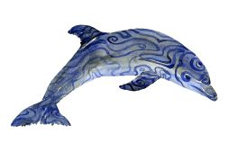 Watercolour of a dolphin