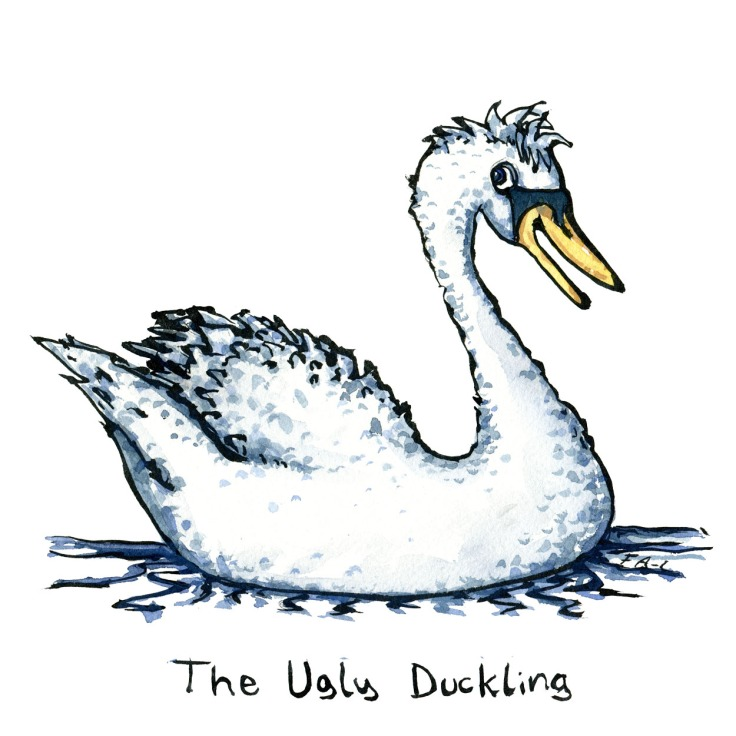 Illustration of the Ugly Duckling, by Frits Ahlefeldt