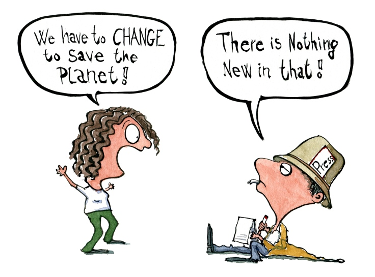 journalist and activist views on saving the planet drawing