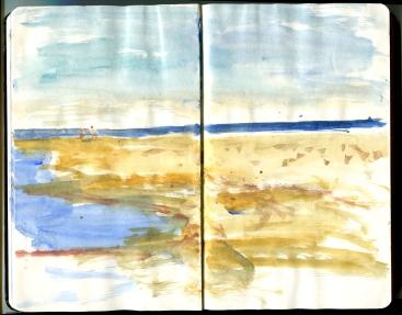 Moleskine sketch, Bornholm, Denmark, Hiking