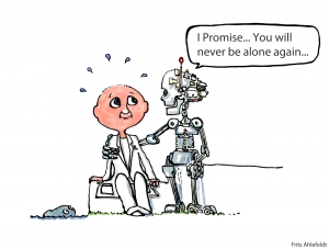 Robot promise, man will never be alone again