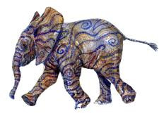 Elephant Tribal walking, by Frits Ahlefeldt