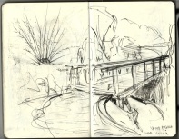 Moleskine pencil sketch by Frits Ahlefeldt