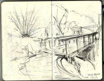 Moleskine pencil sketch by Frits Ahlefeldt