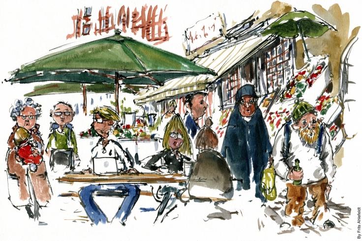 Drawing from Blaagardsgade, Copenhagen