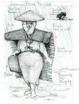 Rain gear Research sketch by Frits Ahlefeldt