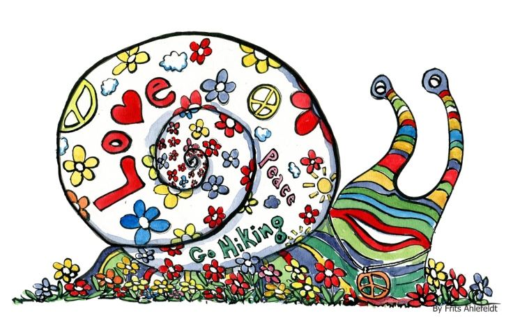 The hippie love snail