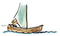 boat in the wind