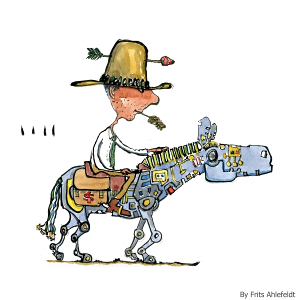 pioneer on digital robot horse