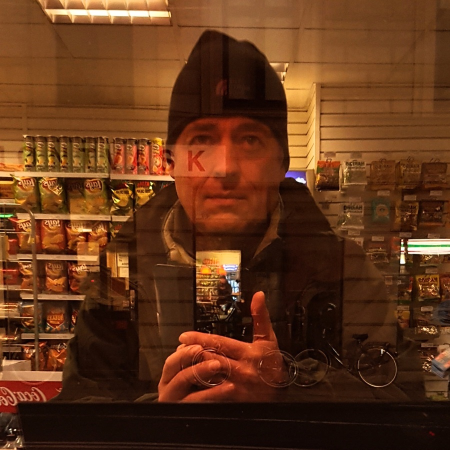 Portrait and selfie in Seven Eleven